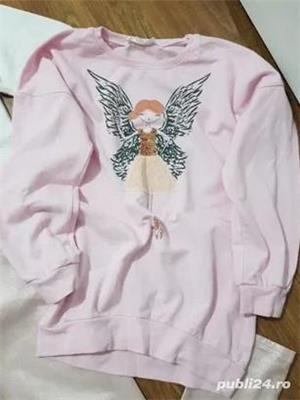 Bluza roz,peste 12 ani,stare f buna - imagine 1