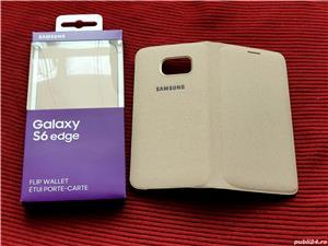 Husa Originala Flip wallet pt Samsung Galaxy S6 EDGE Noua!Activa-Carcasa - imagine 1