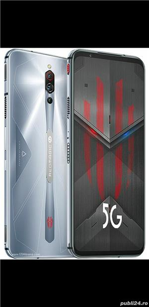 Telefon gaming NUBIA Red Magic 5S Dual Sim Fizic 128GB 5G Negru 8GB RAM +Casti - imagine 2