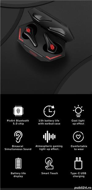 Telefon gaming NUBIA Red Magic 5S Dual Sim Fizic 128GB 5G Negru 8GB RAM +Casti - imagine 3