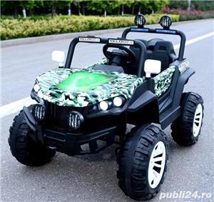 Masinuta electrica 4x4 Nichiduta Shadow Green Army - imagine 5