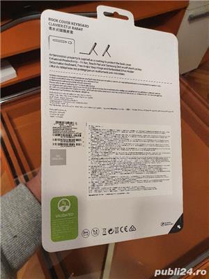 Husa de protectie Samsung Bookcover Keyboard pentru Galaxy Tab S7, Black - imagine 2