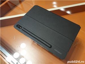 Husa de protectie Samsung Bookcover Keyboard pentru Galaxy Tab S7, Black - imagine 3