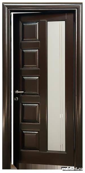 Usi interior lemn masiv - scari interioare lemn masiv - mobilier - imagine 3