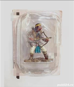 4 Figurine din Plumb - Indieni Vestul Sălbatic - imagine 3