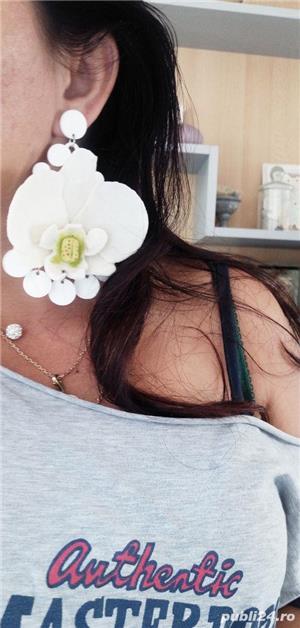 Cercel Orhidee  cu tija din argint925 - imagine 2