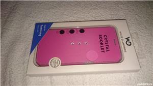 Husa telefon samsung S6 G920F white diamonds cristale swarovski roz 2 - imagine 2