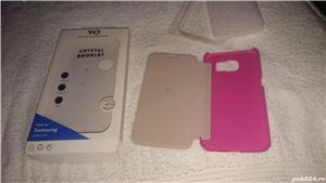 Husa telefon samsung S6 G920F white diamonds cristale swarovski roz 2 - imagine 3