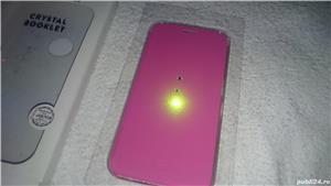 Husa telefon samsung S6 G920F white diamonds cristale swarovski roz 2 - imagine 4