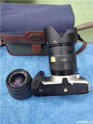 .Aparat Foto Canon EOS 500 N  vechi + 2 Obiective si geanta   - imagine 7