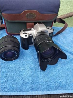 .Aparat Foto Canon EOS 500 N  vechi + 2 Obiective si geanta   - imagine 1
