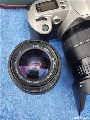 .Aparat Foto Canon EOS 500 N  vechi + 2 Obiective si geanta   - imagine 6