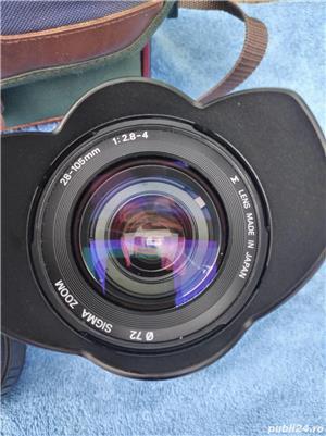.Aparat Foto Canon EOS 500 N  vechi + 2 Obiective si geanta   - imagine 3