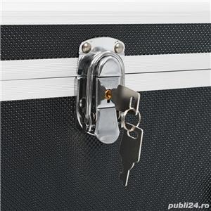 vidaXL Cutii de depozitare, 2 buc., negru, aluminiu vidaXL(91851) - imagine 3