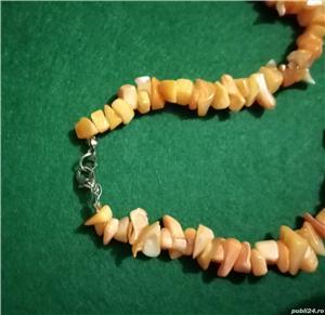Colier imitatie coral portocaliu acrilic - imagine 4