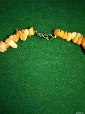 Colier imitatie coral portocaliu acrilic - imagine 3