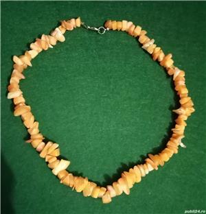 Colier imitatie coral portocaliu acrilic - imagine 2