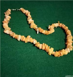 Colier imitatie coral portocaliu acrilic - imagine 1