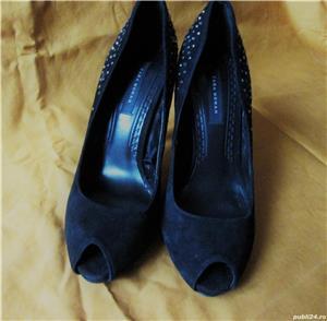 Pantofi ZARA din piele intoarsa - imagine 6