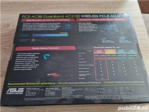 Vand placa de retea PCIe wireless WiFi Asus AC3100 AC88 noua sigilata - imagine 5