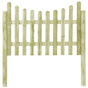 vidaXL Gard de grădină cu 4 stâlpi, 510x120 cm, lemn de pin tratat vidaXL(45171) - imagine 2