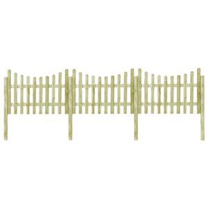 vidaXL Gard de grădină cu 4 stâlpi, 510x120 cm, lemn de pin tratat vidaXL(45171) - imagine 1