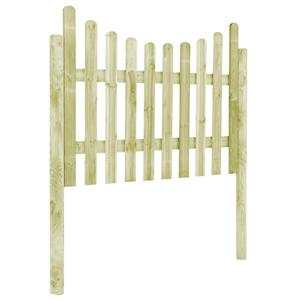 vidaXL Gard de grădină cu 4 stâlpi, 510x120 cm, lemn de pin tratat vidaXL(45171) - imagine 3