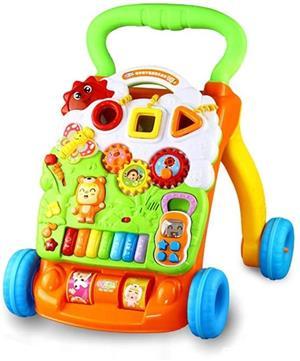Antemergator/Premergator bebe copii, 9luni+, multifunctional / interactiv Dibao Bear Piano Walker - imagine 1