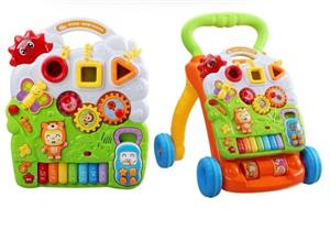 Antemergator/Premergator bebe copii, 9luni+, multifunctional / interactiv Dibao Bear Piano Walker - imagine 4