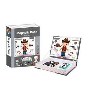 Jucarie Carte magnetica puzzle   Joc de rol   89 piese STEM - imagine 3