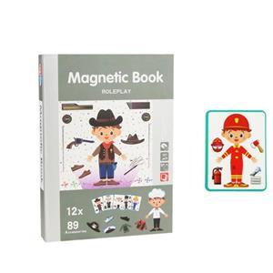 Jucarie Carte magnetica puzzle   Joc de rol   89 piese STEM - imagine 1