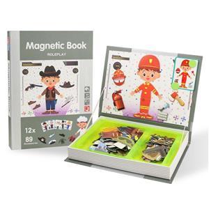 Jucarie Carte magnetica puzzle   Joc de rol   89 piese STEM - imagine 4