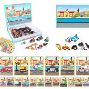 Jucarie Carte magnetica puzzle   Trafic   55 piese STEM - imagine 3