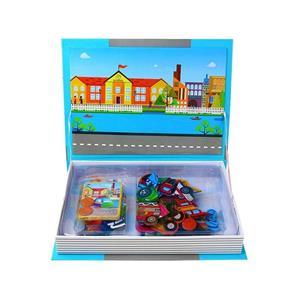 Jucarie Carte magnetica puzzle   Trafic   55 piese STEM - imagine 2