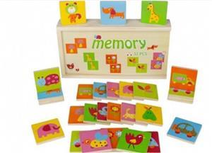 Jucarie din lemn, Memorie si asociere Montessori cu 32 de piese - imagine 1
