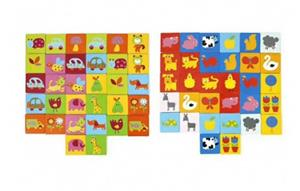 Jucarie din lemn, Memorie si asociere Montessori cu 32 de piese - imagine 5