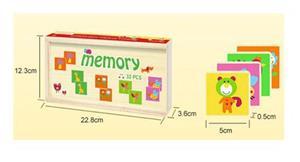 Jucarie din lemn, Memorie si asociere Montessori cu 32 de piese - imagine 4