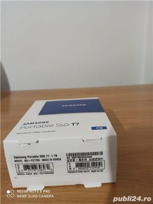 SSD Extern Samsung T7 Portabil 1TB Nou-Sigilat! Fab:2020 - imagine 2