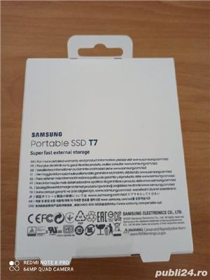 SSD Extern Samsung T7 Portabil 1TB Nou-Sigilat! Fab:2020 - imagine 6