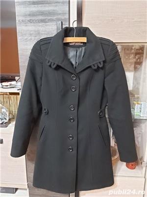 Palton negru dama - imagine 3