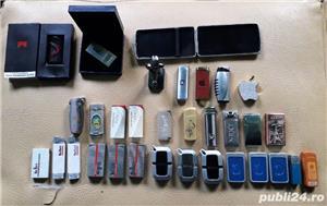 Lot de 31 brichete metalice plus o tabacheră - imagine 1