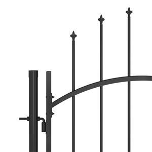 vidaXL Poartă gard pentru grădină cu vârf suliță, negru, 5 x 2 m vidaXL(146324) - imagine 4