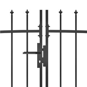 vidaXL Poartă gard pentru grădină cu vârf suliță, negru, 5 x 2 m vidaXL(146324) - imagine 3