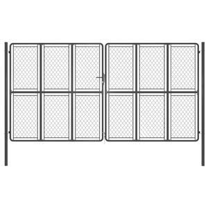 vidaXL Poartă de grădină, antracit, 400 x 175 cm, oțel vidaXL(144436) - imagine 1