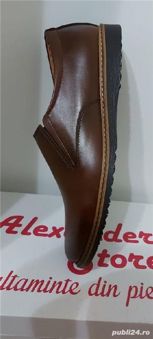 pantofi barbati model mario maro piele naturala 100%  - imagine 5