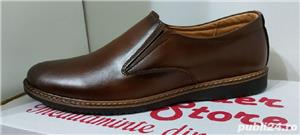pantofi barbati model mario maro piele naturala 100%  - imagine 3