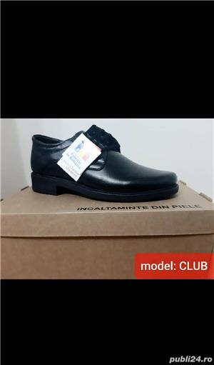 pantofi barbati model club negru piele naturala 100%  - imagine 3