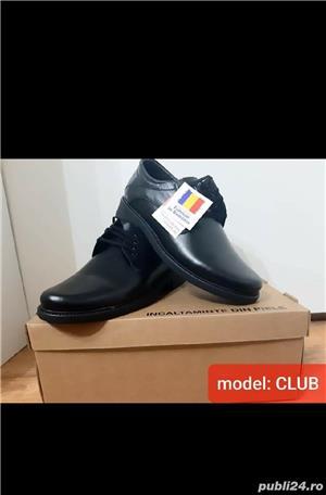pantofi barbati model club negru piele naturala 100%  - imagine 6