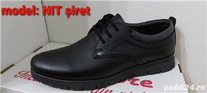 pantofi barbati model nit șiret și elastic piele naturala 100%  - imagine 1