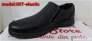 pantofi barbati model nit șiret și elastic piele naturala 100%  - imagine 7